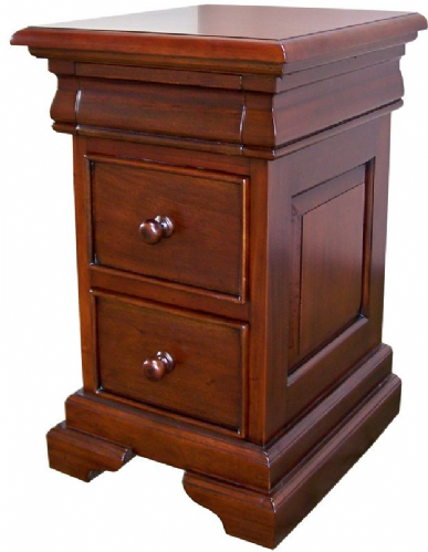 Sleigh 2 Drawer Chest or Bedside